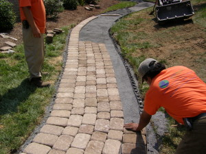 Hardscape Installation, Landscaping, Earthscape Company, Charlotte