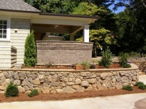 Stone Wall, Landscaping, Charlotte, NC